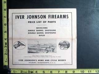 Johnson Firearms Revolvers Shotguns Rifles Price List of Gun Parts