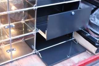Original USM Haller Glas Vitrine Regal mit Halogen Beleuchtung