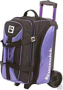 Brunswick Flash Purple/Black 2 Ball Roller Bowling Bag
