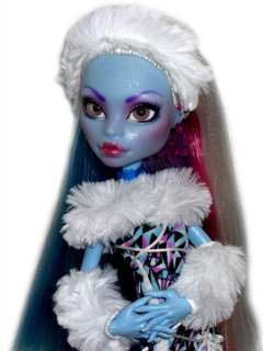OOAK GLASS EYES custom Monster High doll repaint Abbey Bominable
