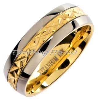 *Grade 5* Titanium Wedding Ring Band Comfort Fit 7mm Size 14