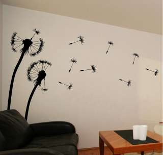 Large Blowing Dandelions Dandelion Vinyl Wall Art 2B