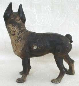 1900 Hubley cast iron bull Dog Boston Terrier doorstop~original paint