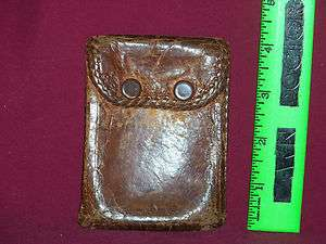 WWII United Carr Leather money pouch, wallet, vintage military