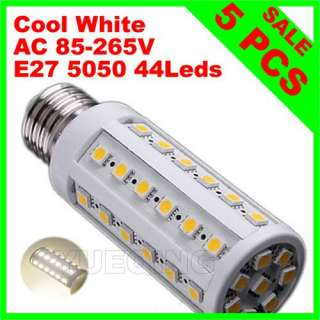 E27 9W 44 Leds 5050 SMD Led Corn Light Bulb Lamp Warm White AC 110
