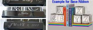 Bookends Silver plated Baby Blocks book Gift shower xms
