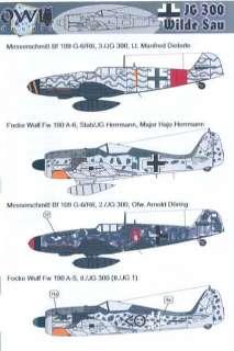 Owl Decals 1/144 German JG 300 WILDE SAU Wild Boar Squadron