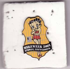 2001 Sturgis Bike Week Betty Boop Motorcycle Pin *New*