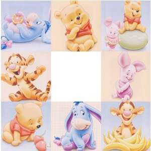 Wandbild auf Leinwand von Baby WINNIE POOH, Tigger, Iaah und