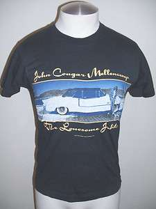 Vtg 87s John Cougar Mellencamp The Lonesome Jubilee Concert T shirt