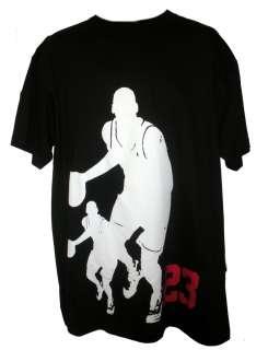 MENS XL BLACK PHAT DOC MICHAEL JORDAN #23 BASKETBALL T SHIRT WITH TAGS