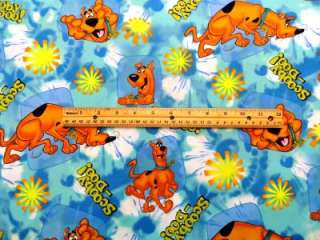 New Scooby Doo Dog Cartoon VIP Fabric BTY