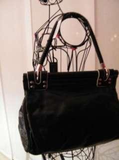 BEBE bag purse handbag SATCHEL pocketbook hobo Dunaway leather beige