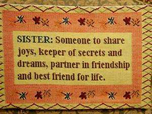 SISTER Best Friend Life Belgian Tapestry Pillow Cover