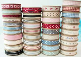 3m ROLL EAST OF INDIA RIBBON   GINGHAM   DOTS   STRIPES
