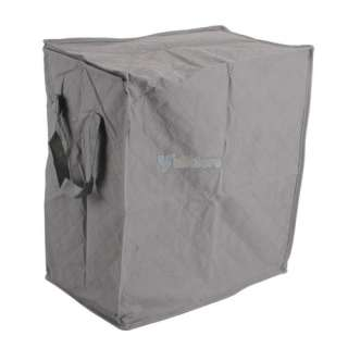 Gray Clothes Storage Bags Bamboo Fiber Quilt Container