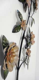 NEW Contemporary Metal Wall Art   Colour Flower Trail