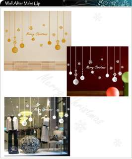 Christmas Decoration Vinyl Wall Stickers / Wall Decal