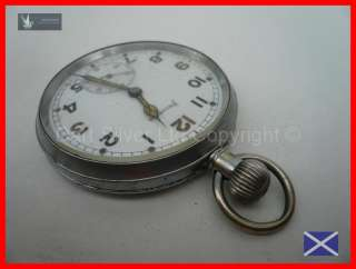 Helvetia WWII British Military Issue Pocket Watch~32A Calibre Movement