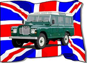 Union Jack Flag Land Rover Defender Series 3 Sticker