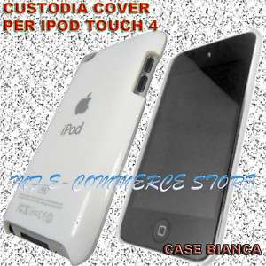 CUSTODIA PER APPLE IPOD TOUCH 4 4G BIANCA LOGO COVER