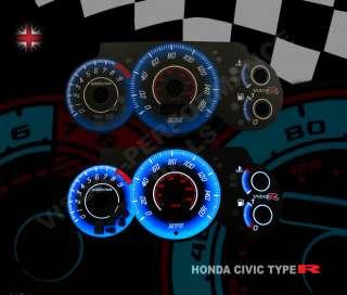HONDA CIVIC EP3 TYPE R SPEEDO PLASMA GLOW DIAL KIT