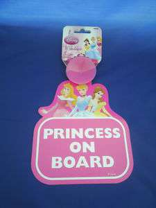 DISNEY PRINCESS   PRINCESS ON BOARD CAR SIGN NEW
