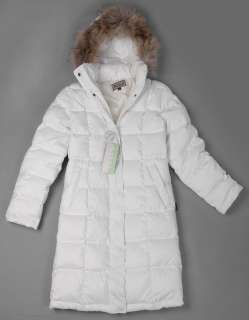 2010 new Ladies Duck Down Fill hoody Jacket coat white