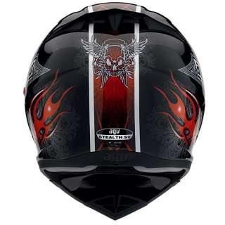 INTEGRALE FIBRA AGV STEALTH SV CRUEL BLACK/RED TAGLIA XXS