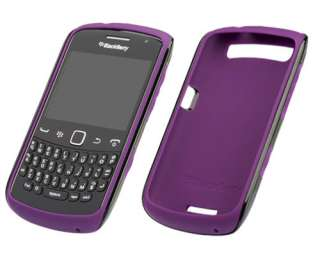BLACKBERRY BLACK PURPLE PREMIUM SKIN CASE FOR 9350 9360 CURVE   ACC