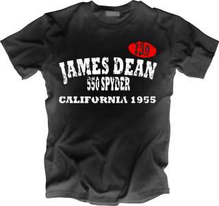 New USA Film Star James Dean 1955 Porsche California T Shirt All Sizes