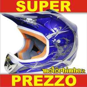CASCO CROSS bambino mini moto cross quad miniquad