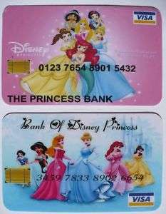 PRINCESSE DISNEY ☆ CARTE CREDIT VISA FACTICE JEU BLANCHE NEIGE FEE
