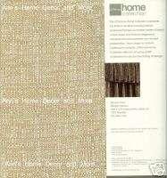 Highland Tweed Soft Linen Tan Flip Over Curtain Valance