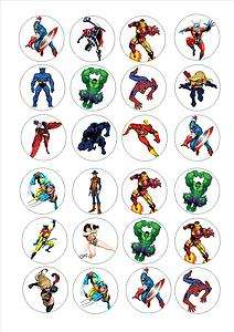 cake toppers decorations Avengers marvel super hero heros mixed