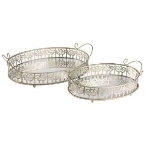 Set of 2 Lasko Mirror Trays: Home & Kitchen