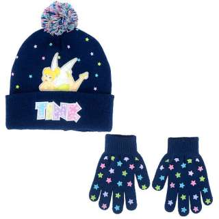 Disney Fairies Tink Hat and Glove Set   Navy   American Boy & Girl