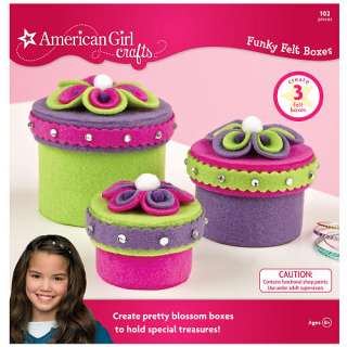 American Girl Crafts Funky Felt Boxes   Wilton 1017824   Fashion