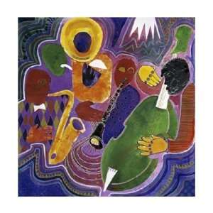 Quartet (Night in Tunisia) by Gil Mayers . Art PRINT