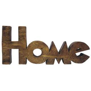 WORD ART HOME LETTERS SCULPTURE ORNAMENT SOLID ACACIA WOOD HAND CARVED