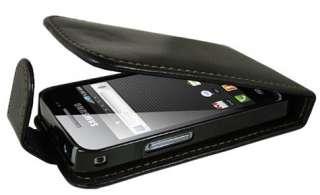 Funda Cuero Samsung Galaxy Ace S8530 Negra Alta Calidad