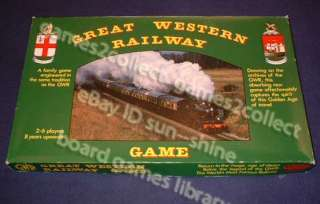 Great Western Railway game board game 1980s