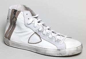 Scarpe donna sportive sneakers Philippe Model Bikke bianco pelle