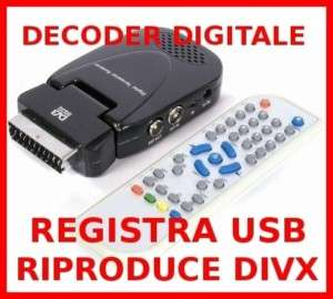 DECODER DIGITALE TERRESTRE DVBT DVB T DIVX REGISTRA USB