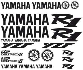 KIT PEGATINAS /KIT DECALS STICKERS / YAMAHA YZR R1 2003
