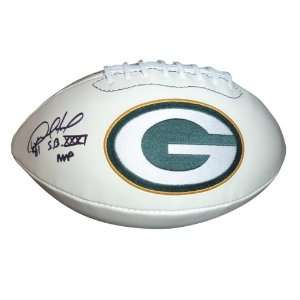 Desmond Howard Autographed Green Bay Packers Logo Football w/ SB XXXI