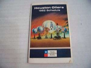 1982 NFL Houston Oilers Football Pocket Schedule