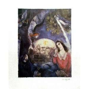 Wedding Over City by Marc Chagall. Size: 25 inches width