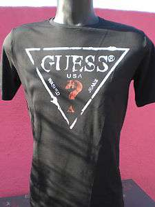 TEE SHIRT GUESS HOMME NOIR TRIANGLE TAILLE S ETE 2012  DESTOCKAGE