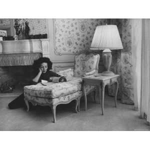 Mexican Actress Maria Felix at Her Home Stretched Canvas
